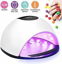 UV LED Nail Lamp, Nail Dryer for Gel Nail Polish,