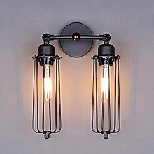 UWY Antique Wall Lights Wire Iron Cage Indoor Wall