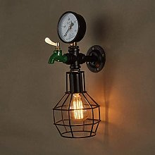UWY Creative Water Pipe Wall Sconce Vintage Wall