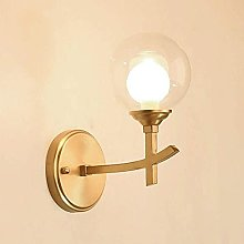 UWY Indoor Lighting Fixture Wall Sconce with Glass