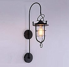 UWY Industrial Wall Light Glass Lampshade Interior