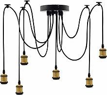 UWY Lighting Industrial Cluster 6 Way Pendant