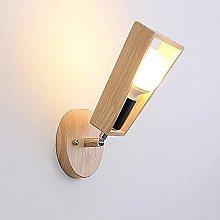 UWY Nordic Modern Indoor 1-Light Wall Lamp Wooden