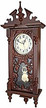 UWY Pendulum Clock Ancient, Wall Clock Wooden