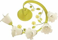 UWY Romantic Green Wrought Iron Garden Flowers