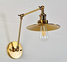 UWY Vintage Golden Wall Light Double Sections
