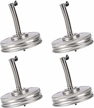 uxcell 4pcs Stainless Steel Regular Mouth Mason