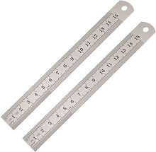 Uxcell Metric Stainless Steel Straight Ruler