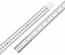 uxcell Straight Ruler 60cm 24 Inch Stainless Steel