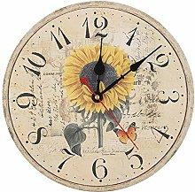 Uxsiya Pink Clock, Kitchen Clocks Wall Bedroom