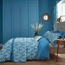 V & A Alyssum Kingsize Duvet Cover Set, Blue