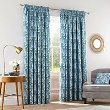 "V & A Alyssum Lined Curtains 66"" x 90"","