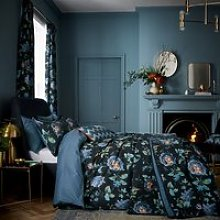 V & A Everlasting Bloom Bedding, Indigo