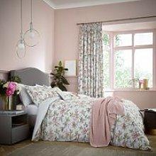 V & A Peony Blossom Bedding, Silver
