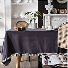 V-ambm Christmas Linen Long Tablecloth Washable
