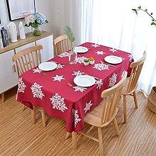 V-ambm Linen Long Tablecloth Christmas Washable