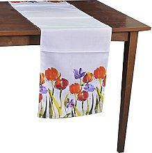 Vacchetti Tablecloth Runner Fabric Tulips,