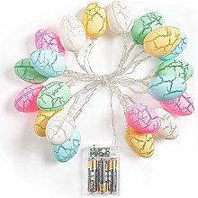 Vacclo 20 Easter Eggs 10 Ft String Light Battery