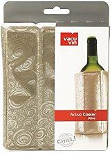 Vacu Vin Active Cooler Wine Platinum, Silicone