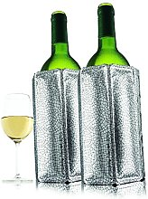 Vacu Vin Active Wine Cooler Silver, Set of 2 by