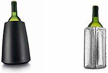 Vacu Vin Rapid Ice Elegant Wine Cooler - Black &
