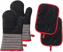 vahome Oven Mitts and Potholders Sets 4pcs 500°F