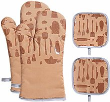 vahome Oven Mitts and Potholders Sets 4Pcs Heat