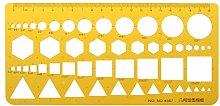 VAILANG K Resin Circles Squares Triangle Geometric