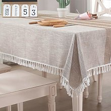 Vailge Tablecloth Rectangle Table Cloth Cotton