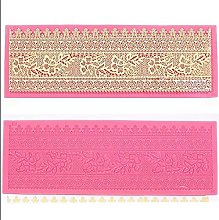 VAK DIY Plum Blossom Embossed Moulds,Lace Silicone