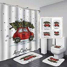 Valcatch 4pcs/set Christmas Vintage Red Truck