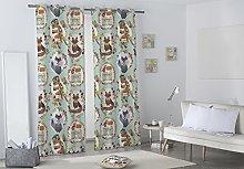 Valentina Curtain, Texture, Green, Single