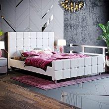 Valentina King Size Bed, Light Grey Linen