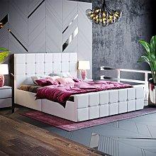 Valentina King Size Ottoman Bed, Light Grey Linen