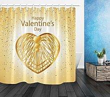 Valentine Gold Love Hearts Bathroom Polyester