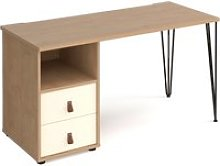 Valentine Rectangular Home Office Desk With Drawer