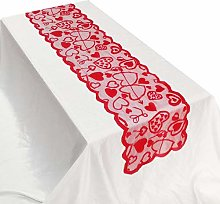 Valentines Day Table Runner 12.99 X 72.05 Inch Red