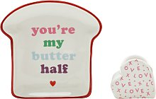 Valentines Egg Cup & Toast Plate