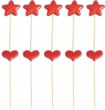 VALICLUD 10pcs Easter Star and Love Heart Cake