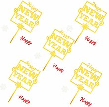 VALICLUD 5pcs 2021 New Year Cake Topper Muffin