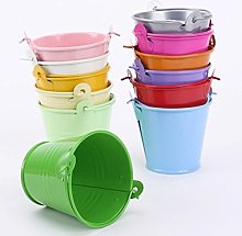 VALINK 12 Pcs Colorful Mini Bucket, Metal Bucket,