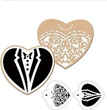 VALINK 3pcs/lot Bride Groom shape Cookies