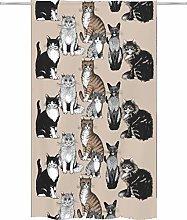 Vallila Kitties 140x240 cm beige, cat curtain for