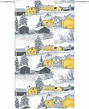 Vallila Muisto Curtain 140x250 cm yellow, 250cm x