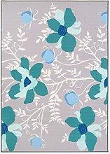 Vallila Opera Printed Rug, 160x230 cm, Turquoise,