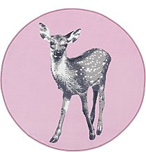 Vallila Peura Animal Printed Rug, Polyester, Pink,