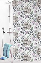 Vallila Shower Curtain, Pink/Green, 180x200 cm