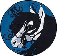 Vallila Varsa Printed Rug, Polyester, Blue, 133 x