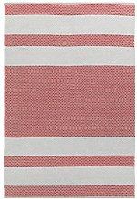 Vallila Vilho cotton rug 140x200 cm, beige red,