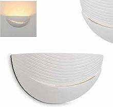 Vallo Ceramic Wall Light Fixture, Natural Plaster